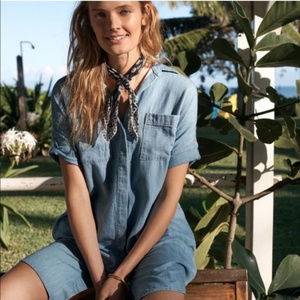 Madewell Popover Denim Courier Shirt Dress